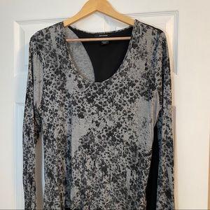 DKNY Jeans | Abstract Black/Grey Top | Sz XL